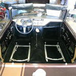 Dash and carpet and seat sliders installed