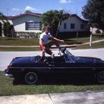 Skeeter with his pride and joy 1969 MGB at home in
